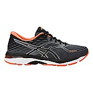 Mens ASICS GEL-Cumulus 19 Running Shoe - Carbon/Orange 6