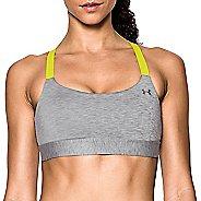 Womens Under Armour Eclipse Mid Heather Sports Bra - Grey/Yellow XL
