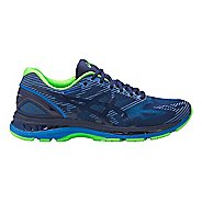 Mens ASICS GEL-Nimbus 19 Lite-Show Running Shoe - Blue/Green 8.5