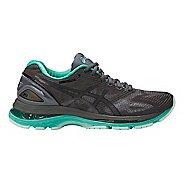 Womens ASICS GEL-Nimbus 19 Lite-Show Running Shoe - Dark Grey/Turquoise 7.5