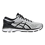 Mens ASICS GEL-Kayano 24 Running Shoe - Silver/Black 11.5