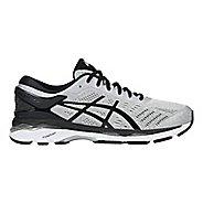 Mens ASICS GEL-Kayano 24 Running Shoe - Silver/Black 15