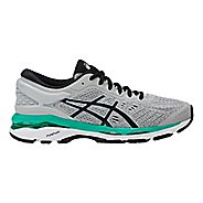 Womens ASICS GEL-Kayano 24 Running Shoe - Silver/Green 7