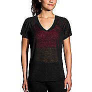 Womens Brooks Ghost Short Sleeve Technical Tops - Black L