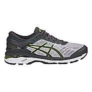 Mens ASICS GEL-Kayano 24 Lite-Show Running Shoe - Grey/Yellow 10