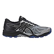 Mens ASICS GEL-FujiTrabuco 6 Trail Running Shoe - Grey/Black 14