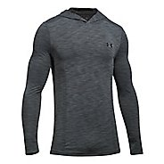Mens Under Armour Threadborne Seamless Hoody Half-Zips & Hoodies Technical Tops - Graphite/Black L