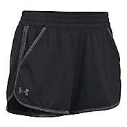 Womens Under Armour Twist Tech 2.0 Unlined Shorts - Black/Black L