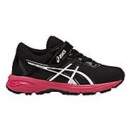 Kids ASICS GT-1000 6 Running Shoe - Dark Grey/Pink 13C
