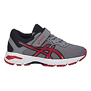 Kids ASICS GT-1000 6 Running Shoe - Grey/Red 2Y