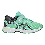 Kids ASICS GT-1000 6 Running Shoe - Green/Carbon/Opal 2Y
