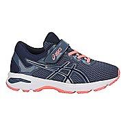 Kids ASICS GT-1000 6 Running Shoe - Smoke/Blue 11C