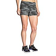 "Womens Brooks Greenlight Printed 3"" Tight Unlined Shorts"