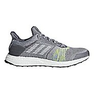 Mens adidas Ultra Boost ST Running Shoe - Grey/Slime 8.5