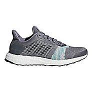 Womens adidas Ultra Boost ST Running Shoe - Grey/Green 10