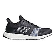 Womens adidas Ultra Boost ST Running Shoe - Carbon/White/Blue 9.5