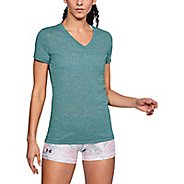 Womens Under Armour Threadborne Train Short Sleeve V Neck Twist Technical Tops