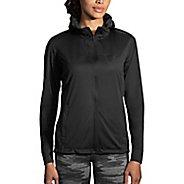 Womens Brooks Hideout Running Jackets - Black XL