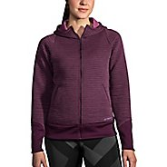 Womens Brooks Fly-By Hoodie Running Jackets