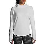 Womens Brooks Dash Half-Zips & Hoodies Technical Tops - White M