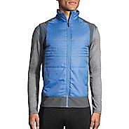 Mens Brooks Cascadia Thermal Vest Jackets - Bay/Asphalt XS