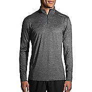 Mens Brooks Dash Half-Zips & Hoodies Technical Tops - Heather Asphalt L
