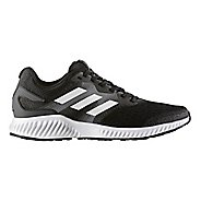 Mens adidas AeroBounce Running Shoe - Black/White 10