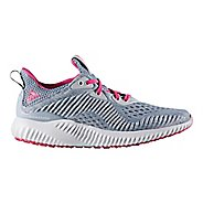 Kids adidas AlphaBounce EM J Running Shoe - Grey/Pink 3.5Y