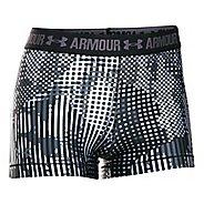 Womens Under Armour HeatGear Printed Shorty Unlined Shorts - Black/Black L