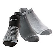 R-Gear Drymax Thin Cushion Pattern No Show 3 pack Socks - Black/Anthracite/Grey L