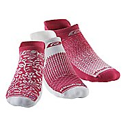 R-Gear Drymax Thin Cushion Pattern No Show 3 pack Socks - October Pink S