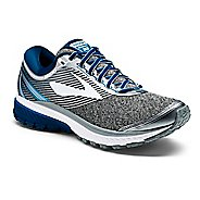 Mens Brooks Ghost 10 Running Shoe - Silver/Blue 10.5