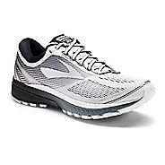 Mens Brooks Ghost 10 Running Shoe - White/Black 10.5