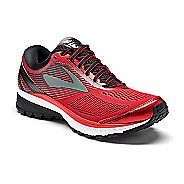 Mens Brooks Ghost 10 Running Shoe - Red/Black 14
