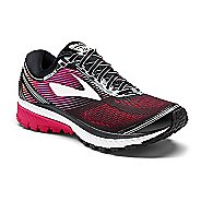 Womens Brooks Ghost 10 Running Shoe - Black/Pink 6