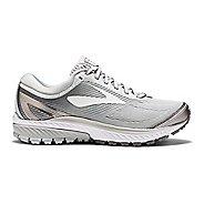 Womens Brooks Ghost 10 Running Shoe - White/Silver 11.5
