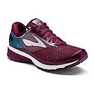 Womens Brooks Ghost 10 Running Shoe - Maroon/Teal 9