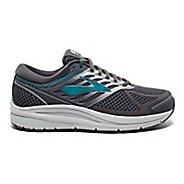 Womens Brooks Addiction 13 Running Shoe - Ebony/Silver/Blue 10.5
