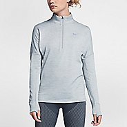 Womens Nike Therma Sphere Element Half-Zips & Hoodies Technical Tops - Wolf Grey S