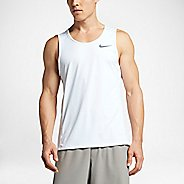 Mens Nike Dry Miler Tank Sleeveless & Tank Technical Tops - White L