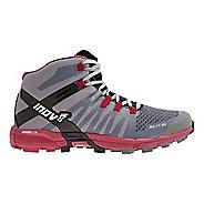 Womens Inov-8 Roclite 325 Trail Running Shoe - Grey/Dark Red 10.5