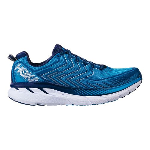 Mens Hoka One One Clifton 4 Running Shoe | Diva Blue/true Blue Hoka One One Running Shoes From Road Runner Sports