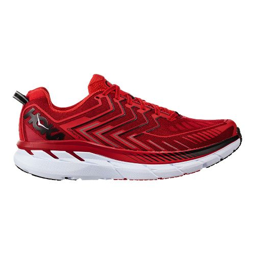 Mens Hoka One One Clifton 4 Running Shoe | Red/black Hoka One One Running Shoes From Road Runner Sports