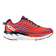 Womens Hoka One One Clifton 4 Running Shoe - Red Orange/Peacoat 11