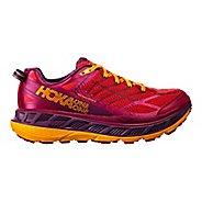 Womens Hoka One One Stinson ATR 4 Trail Running Shoe - Cherry/Purple 8.5