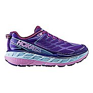 Womens Hoka One One Stinson ATR 4 Trail Running Shoe - Purple/Light Pink 5.5