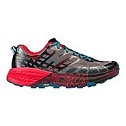 Mens Hoka One One Speedgoat 2 Trail Running Shoe - Black/Red 8.5
