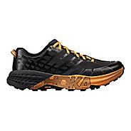 Mens Hoka One One Speedgoat 2 Trail Running Shoe - Black/Kumquat 10