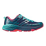 Womens Hoka One One Speedgoat 2 Trail Running Shoe - Navy/Turquoise 5
