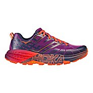 Womens Hoka One One Speedgoat 2 Trail Running Shoe - Plum/Navy 6